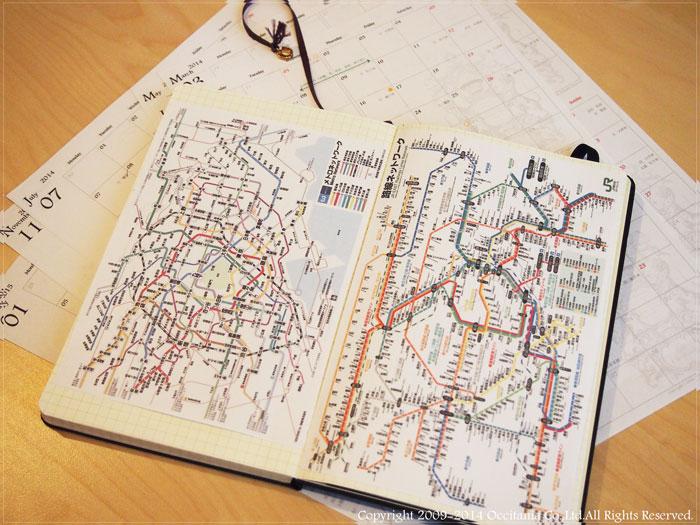 モレスキンに路線図